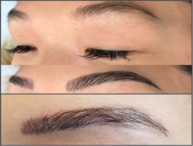 micro blading eyebrows
